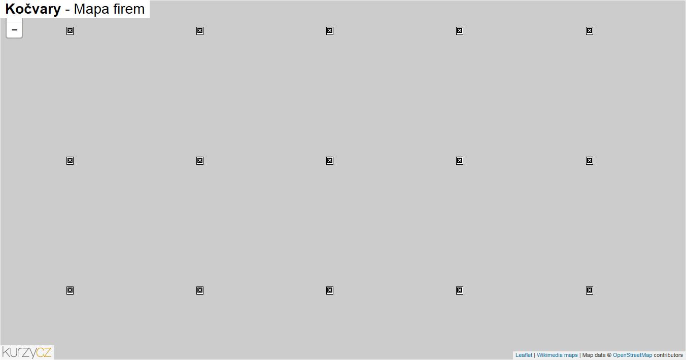 Kočvary - mapa firem