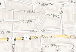 Vrchlického v obci Louny - mapa ulice