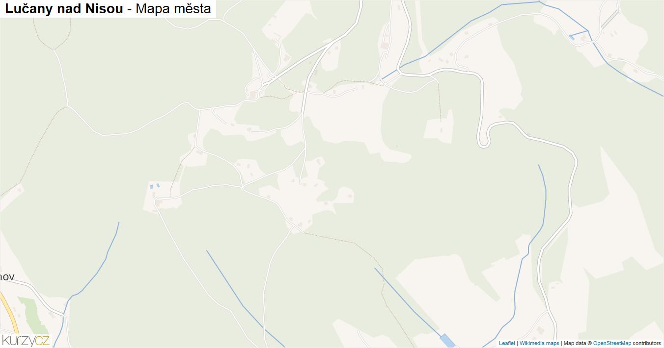 Lučany nad Nisou - mapa města