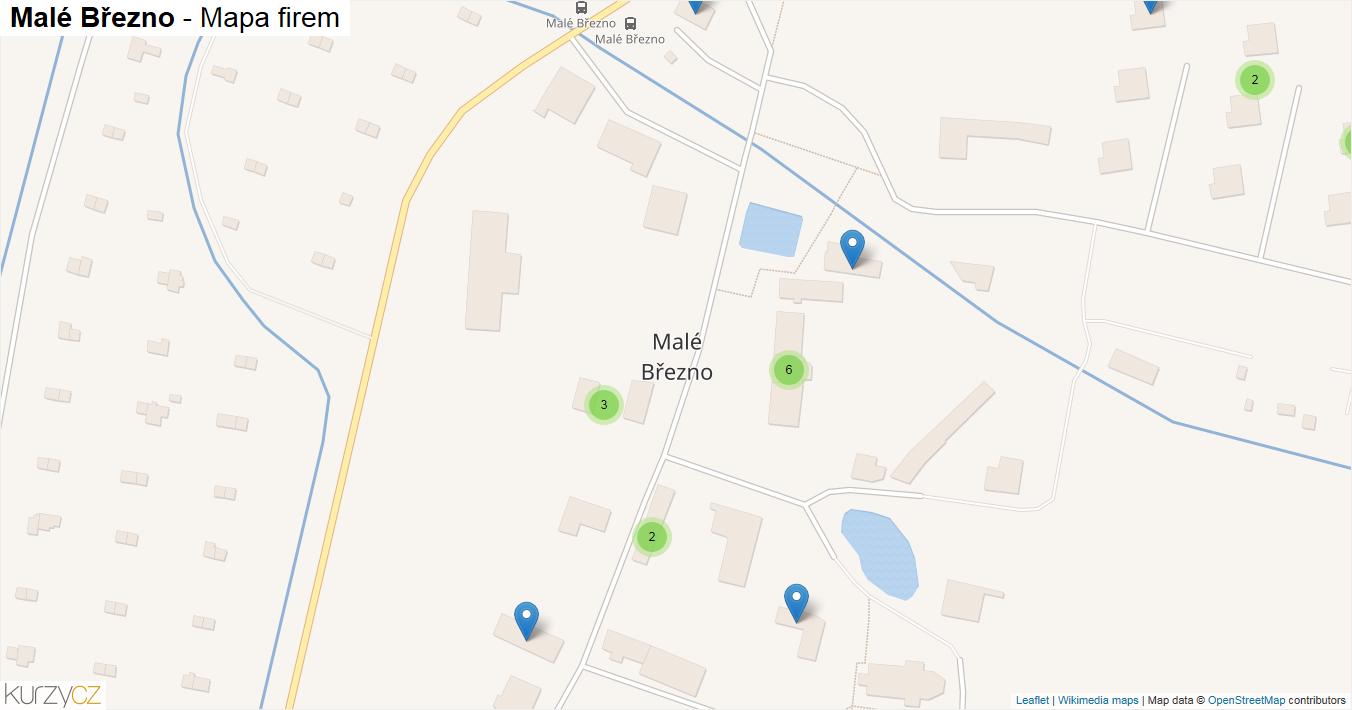 Malé Březno - mapa firem