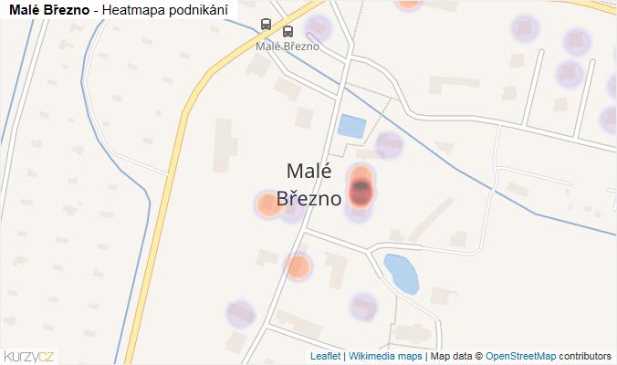 Mapa Malé Březno - Firmy v části obce.