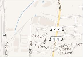 Olšová v obci Měšice - mapa ulice