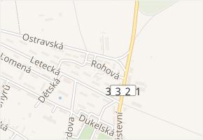 Rohová v obci Milovice - mapa ulice