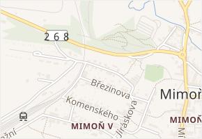 Vrchlického v obci Mimoň - mapa ulice