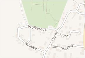 Wolkerova v obci Moravský Beroun - mapa ulice
