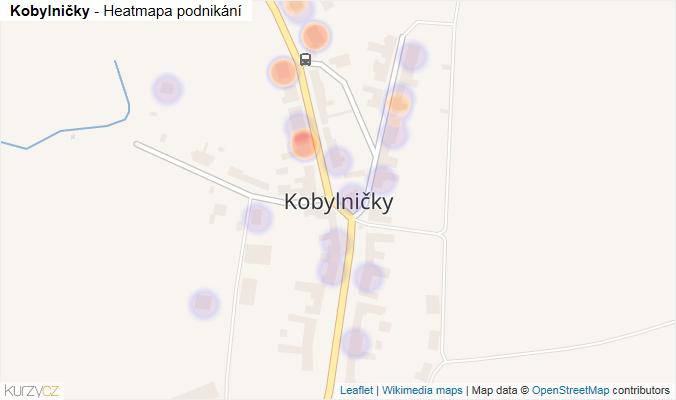 Mapa Kobylničky - Firmy v části obce.