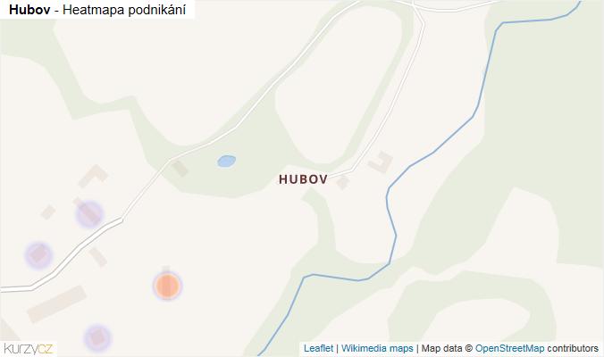 Mapa Hubov - Firmy v části obce.