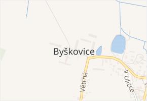 Byškovice v obci Neratovice - mapa části obce