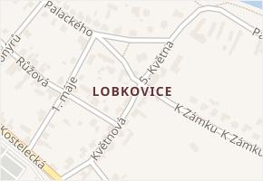 Lobkovice v obci Neratovice - mapa části obce