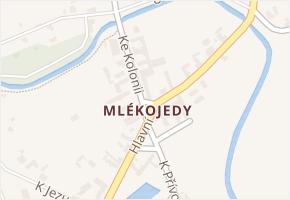 Mlékojedy v obci Neratovice - mapa části obce