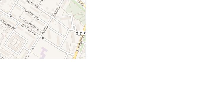Školní v obci Neratovice - mapa ulice