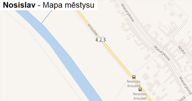 Nosislav - mapa městysu