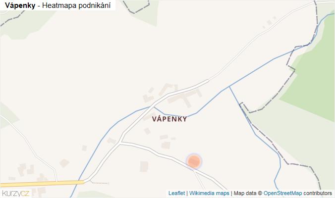 Mapa Vápenky - Firmy v části obce.