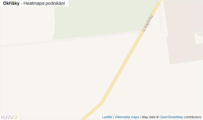 Mapa Okříšky - Firmy v obci.
