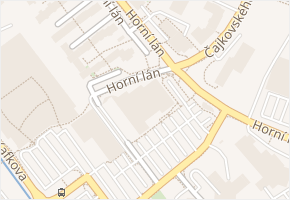 Horní lán v obci Olomouc - mapa ulice