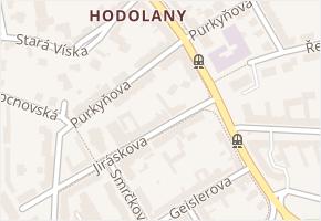 Purkyňova v obci Olomouc - mapa ulice
