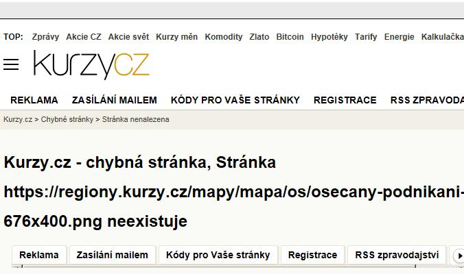 Mapa Osečany - Firmy v obci.