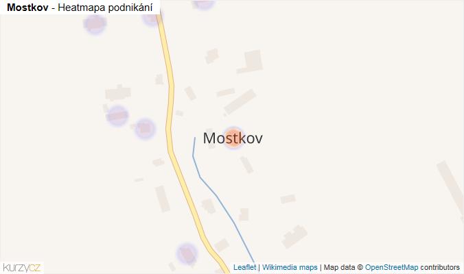 Mapa Mostkov - Firmy v části obce.