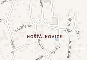 Hošťálkovice v obci Ostrava - mapa části obce