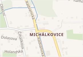Michálkovice v obci Ostrava - mapa části obce