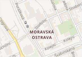 Moravská Ostrava v obci Ostrava - mapa části obce