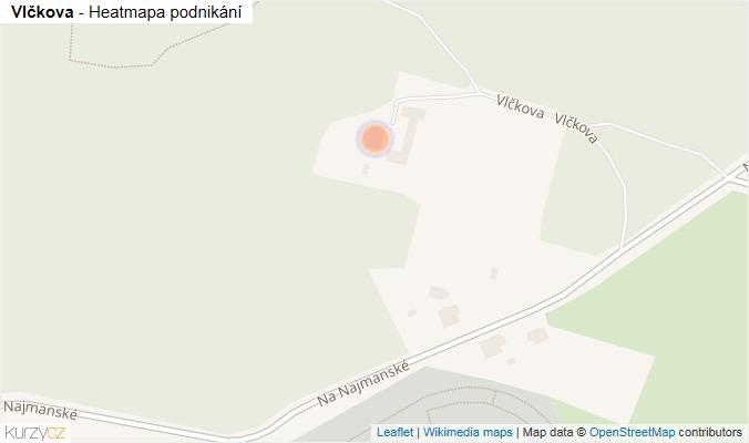 Mapa Vlčkova - Firmy v ulici.