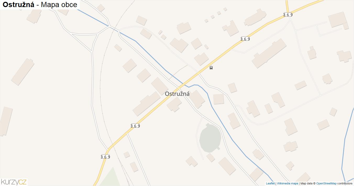 Ostružná - mapa obce