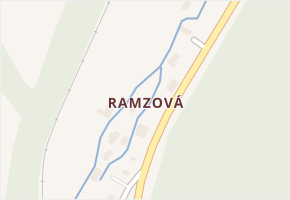 Ramzová v obci Ostružná - mapa části obce