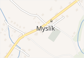 Myslík v obci Palkovice - mapa části obce