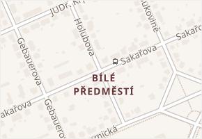 Bílé Předměstí v obci Pardubice - mapa části obce