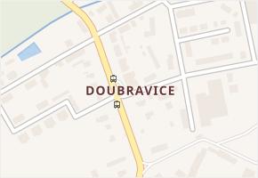 Doubravice v obci Pardubice - mapa části obce