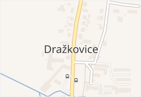 Dražkovice v obci Pardubice - mapa části obce