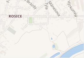 Marie Pujmanové v obci Pardubice - mapa ulice