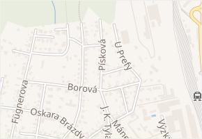 Písková v obci Pardubice - mapa ulice