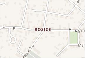 Rosice v obci Pardubice - mapa části obce
