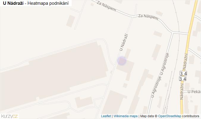 Mapa U Nádraží - Firmy v ulici.