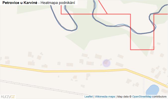 Mapa Petrovice u Karviné - Firmy v obci.