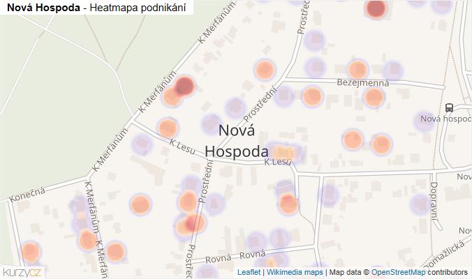 Mapa Nová Hospoda - Firmy v části obce.