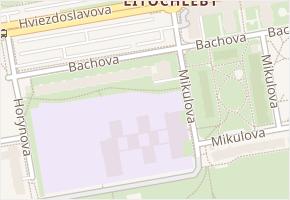 Bachova v obci Praha - mapa ulice