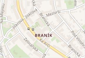Braník v obci Praha - mapa části obce