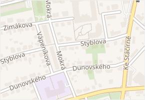Chodov v obci Praha - mapa části obce