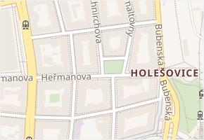 Holešovice v obci Praha - mapa části obce