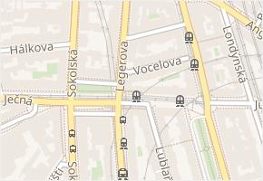 Jugoslávská v obci Praha - mapa ulice