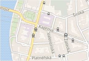 Kaprova v obci Praha - mapa ulice