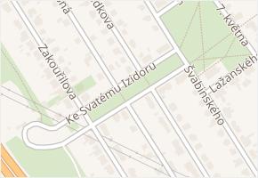 Medkova v obci Praha - mapa ulice