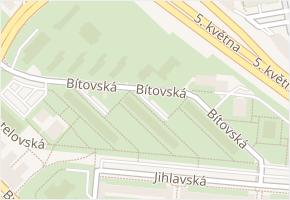 Michle v obci Praha - mapa části obce