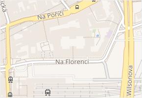 Na Florenci v obci Praha - mapa ulice