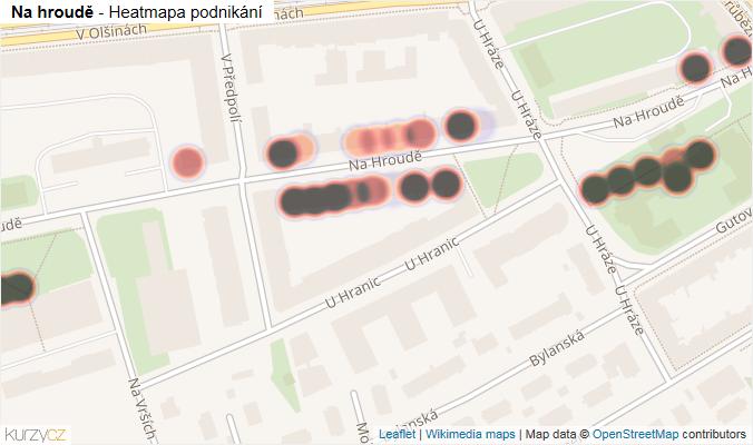 Mapa Na hroudě - Firmy v ulici.