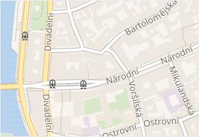 Národní v obci Praha - mapa ulice