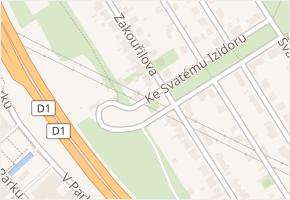 Zakouřilova v obci Praha - mapa ulice